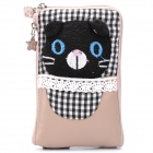 Cute Cartoon Bear Style Zippered Dual Compartment Bag Pouch for Cell Phone / Small Gadgets / Coins