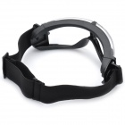 Stylish Outdoor Riding Eye Protection Glasses Goggle - Transparent + Black