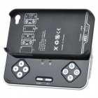 Rechargeable Bluetooth Gamepad Controller with Back Case for iPhone 4/4S - Black + Silver