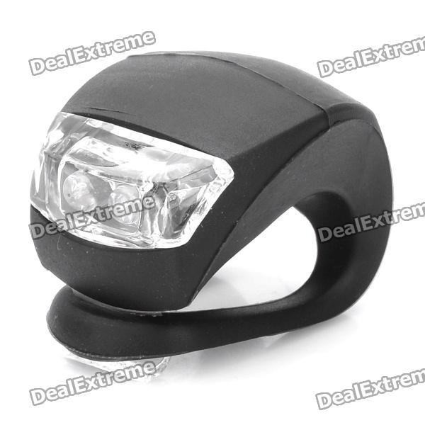 3-Mode 2-LED Blue Light Tie-On Bicycle Bike Lamp Light - Black (2 x CR2032)