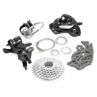 24-Speed Mountain Bike Left / Right Shifters + Front / Back Derailleurs + Cassette + Chain Set