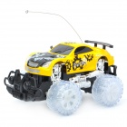 1:18 2-CH R/C Racing Car with Remote Controller  - Yellow (2 x AA/3 x AAA)