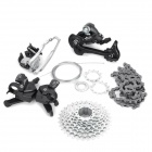 27-Speed Mountain Bike Left / Right Shifters + Front / Back Derailleurs + Cassette + Chain Set