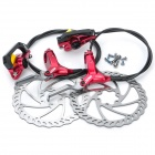 Genuine AEST YHDB600 Bike Bicycle Hydraulic Disc Brake - Red (Front + Rear)