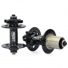 Genuine AEST YMHU24A-17/YMHU28A-18 Mountain Bike Bicycle Hubs - Black (Front + Rear)