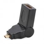 Micro HDMI Male to HDMI Female Rotatable Adapter - Black