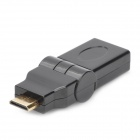Mini HDMI Male to HDMI Female Rotatable Adapter - Black
