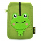 Universal Frog Style Protective Plush Fabric Bag Pouch for Cell Phone - Green