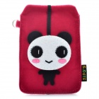 Universal Cute Panda Style Protective Plush Fabric Bag Pouch for Cell Phone - Deep Pink