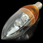 E14 3W 120LM 6000-6500K 1-LED White Light Candle Style Light Bulb - Golden (85~240V)