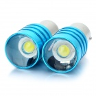 1156 5W 6000-7000K 350-450LM 1-LED White Light Car Reversing / Brake Light - Blue (DC 12V / Pair)