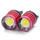 T20 7W 6000-7000K 500LM 1-LED White Light Car Reversing / Brake Light - Deep Pink (DC 12V / Pair)