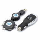 5W USB Car Cigarette Power Charger for Benz w/ iPhone / Samsung i900 Adapters + More (DC 12~24V)