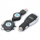 5W USB Car Cigarette Power Charger for Audi w/ iPhone / Samsung i900 Adapters + More (DC 12~24V)