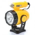 Car Cigarette Power 4W 5-LED 450LM White Light Mini Magnetic Spotlight - Yellow (DC 12V / 7CM)