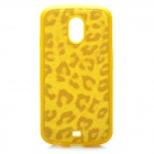 Leopard Pattern Protective Back Case for Samsung i9250 - Yellow