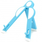 Panda Type Portable Folding Tripod Stand Holder for iPad 1 / 2 - Blue + White