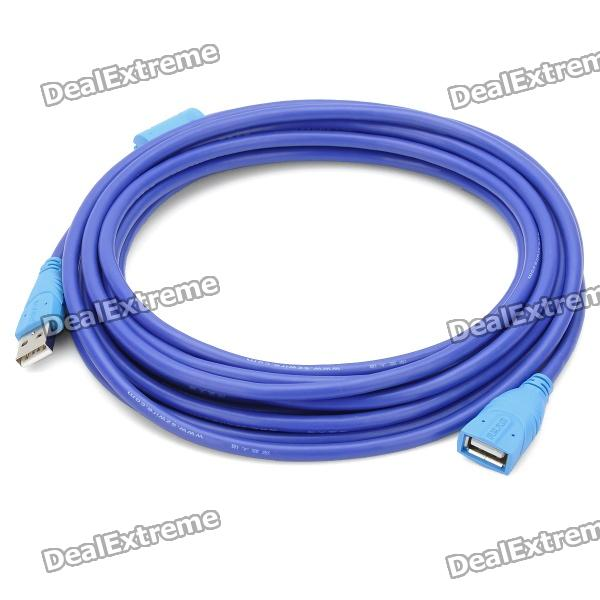 USB 2.0 Male to Female Extension Cable (5M) usb 2 0 printer scanner connection flat cable blue 145cm