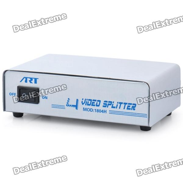 1-In 4-Out VGA Video Splitter (AC 220V) dp 6002 3 port 600mhz vga video splitter black 1 in 2 out