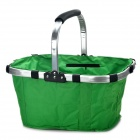 Folding Portable Shopping Picnic Hand Basket - Green
