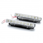 4W 6000K 300LM White 8-LED Car Daytime Running Light Lamp (DC 12V / Pair)