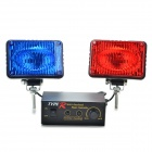 Multi-Function Car Red/Blue Strobe Light Warning Light (DC 12V)