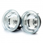 H3 55W Halogen Light Bulb 1000LM 3000K Yellow Light Car Fog Lamp (Transparent Lens / Pair)
