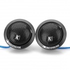 500W DIY Plastic Tweeters Speaker for Car Stereo Audio System - Black (Pair / DC 12V)