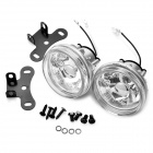 H3 55W Halogen Light Bulb 1000-LM 3000K Yellow Light Car Fog Lamp (Transparent Lens / Pair)