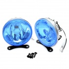 H3 55W Halogen Light Bulb 1000-LM 3000K Yellow Light Car Fog Lamp (Blue Lens / Pair)