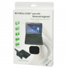 Protective PU Leather Case with Bluetooth V3.0 Keyboard for Motorola XOOM 10.1 - Black