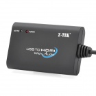 USB 2.0 to HDMI Converter Adapter with Audio - Black (Supports 1080P)