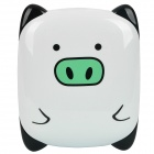 Cute Pig Style 2000mAh Rechargeable External Battery with 7 Adapters - Black + White