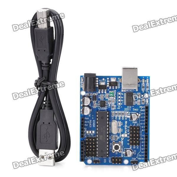 Duemilanove 2009 AVRmega328P-PU with USB Cable for Arduino (Works with Official Arduino Boards)