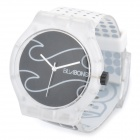 Fashion Rubber Band Wrist Watch - White + Black (1 x SR626SW)
