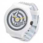 Fashion Rubber Band-Armbanduhr - White + Black (1 x SR626SW)