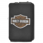 Harley Davidson Style Automatic Ejection Cigarette Case w/ Windproof Gas Lighter (Holds 10)
