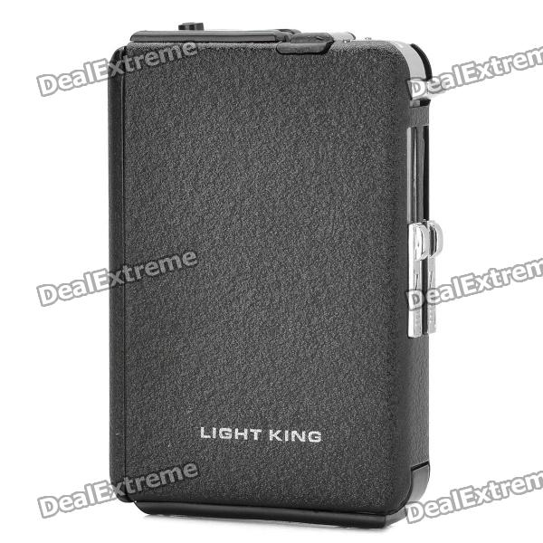 Zinc Alloy Automatic Ejection Cigarette Case w/ Windproof Butane Jet Torch Lighter (Holds 10)