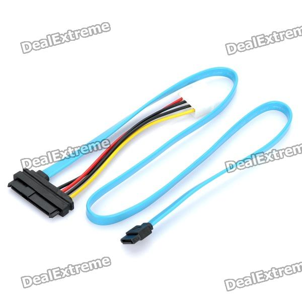 SAS 29 Pin to SATA Transfer Cable - Black + Blue (SATA - 70cm / Power - 10cm Length)Computer Cable&amp;Adapter<br>Form  ColorBlackInterfaceIDETransmission Rate10Packing List<br>