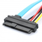 SAS 29 Pin to SATA Transfer Cable - Black + Blue (SATA - 70cm / Power - 10cm Length)