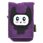 Cute Cartoon Mobile Phone Carrying Handbag Pouch - Purple