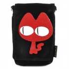 Cute Cartoon Mobile Phone Carrying Handbag Pouch - Black