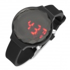 P038L Delicate Rhinestone LED Electronic Watch - Black