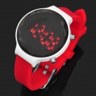 P038L Delicate Rhinestone LED Electronic Watch - Red