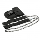 Outdoor Survival Portable Pocket Hand Saw Chain - Black
