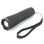 80LM 1W White Light Zoom LED Flashlight - Black ( 3 x AAA)