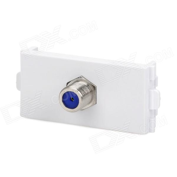 F Connector Signal Module for 86 Switch Panel