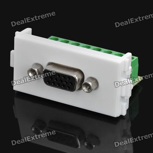 3+4 VGA Female Signal Module for 86 Switch Panel