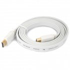 1080P HDMI Male to Male Flat Connection Cable - White (1.5M-Length)