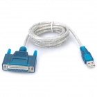 USB 2.0 Male to 25pin-Female Parallel Printer Cable (1.5M-Length)